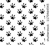 seamless pattern with feline... | Shutterstock .eps vector #1170464545