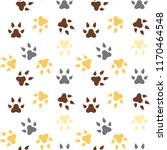 seamless pattern with feline... | Shutterstock .eps vector #1170464548