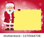 Santa Claus Holding Banner....