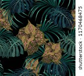 exotic tropical jungle plants.... | Shutterstock .eps vector #1170468475