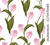 tulips seamless pattern. vector ... | Shutterstock .eps vector #1170470485