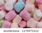 colorful marshmallows as... | Shutterstock . vector #1170472312