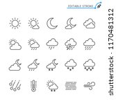 weather line icons. editable... | Shutterstock .eps vector #1170481312