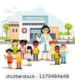 pediatrician doctor concept.... | Shutterstock .eps vector #1170484648