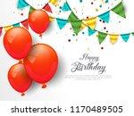 anniversary celebration birth... | Shutterstock .eps vector #1170489505