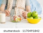 healthy food on table for... | Shutterstock . vector #1170491842