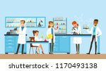 scientists man and woman... | Shutterstock .eps vector #1170493138