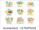 colorful family labels original ... | Shutterstock .eps vector #1170493318