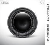 set camera lens object glass... | Shutterstock .eps vector #1170494635
