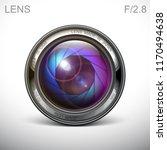 set camera lens object glass... | Shutterstock .eps vector #1170494638