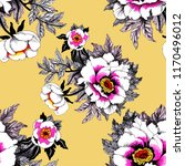 seamless pattern with pink... | Shutterstock . vector #1170496012