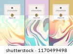 chocolate bar packaging set.... | Shutterstock .eps vector #1170499498
