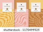 chocolate bar packaging set.... | Shutterstock .eps vector #1170499525