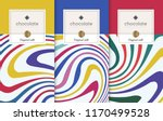 chocolate bar packaging set.... | Shutterstock .eps vector #1170499528