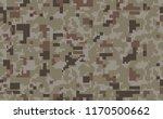 pixel camo background. seamless ... | Shutterstock .eps vector #1170500662