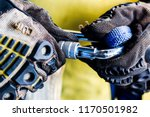 safety harness for work at... | Shutterstock . vector #1170501982