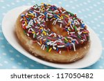 A Doughnut With Colorful...