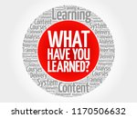 what have you learned  circle... | Shutterstock . vector #1170506632