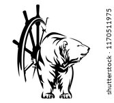 polar bear and ship steering... | Shutterstock .eps vector #1170511975