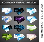 abstract Various 12 Business Card set bright collection vector | Shutterstock vector #117051202