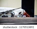 aircraft parking for... | Shutterstock . vector #1170513892