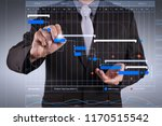 project manager working and... | Shutterstock . vector #1170515542