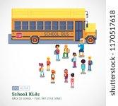 school bus takes the children... | Shutterstock .eps vector #1170517618