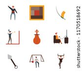 set of 9 simple icons such as... | Shutterstock .eps vector #1170518692