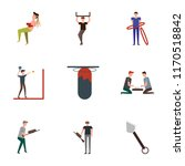 set of 9 simple icons such as... | Shutterstock .eps vector #1170518842