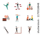 set of 9 simple icons such as... | Shutterstock .eps vector #1170518848