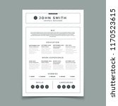 cv resume. business web and... | Shutterstock .eps vector #1170523615