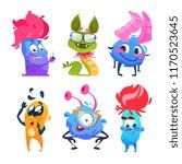 cartoon monsters. halloween... | Shutterstock .eps vector #1170523645