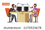 radio show. broadcasting radio... | Shutterstock .eps vector #1170523678