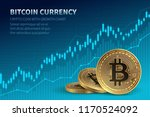 bitcoin currency. crypto coin... | Shutterstock .eps vector #1170524092