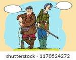 hunters lokking for prey.... | Shutterstock .eps vector #1170524272