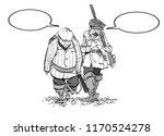 hunters losers. cartoon...   Shutterstock .eps vector #1170524278