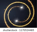 golden glowing shiny spiral... | Shutterstock .eps vector #1170524485