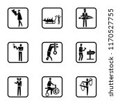 set of 9 simple icons such as... | Shutterstock .eps vector #1170527755