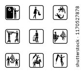 set of 9 simple icons such as... | Shutterstock .eps vector #1170527878