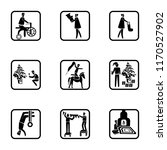 set of 9 simple icons such as... | Shutterstock .eps vector #1170527902