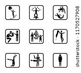 set of 9 simple icons such as... | Shutterstock .eps vector #1170527908