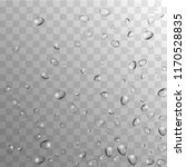 rain drops on transparent... | Shutterstock .eps vector #1170528835