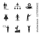 set of 9 simple icons such as... | Shutterstock .eps vector #1170530602