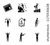 set of 9 simple icons such as... | Shutterstock .eps vector #1170530638