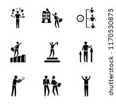 set of 9 simple icons such as... | Shutterstock .eps vector #1170530875
