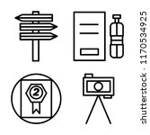 set of 4 vector icons such as ...
