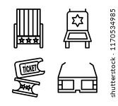 set of 4 vector icons such as... | Shutterstock .eps vector #1170534985