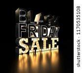 black friday sale sign on black ... | Shutterstock . vector #1170535108