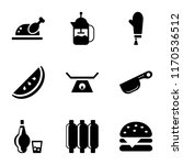 set of 9 simple icons such as... | Shutterstock .eps vector #1170536512