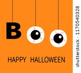 happy halloween. hanging word...   Shutterstock .eps vector #1170540328